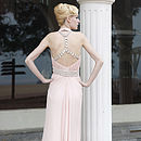 Halter V Neck Evening Dress