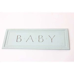'Baby' Metal Wall Sign