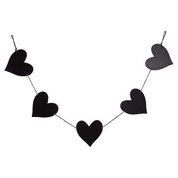 Blackboard Hearts Garland