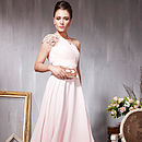 Pink A Line Evening Dress With Embellished