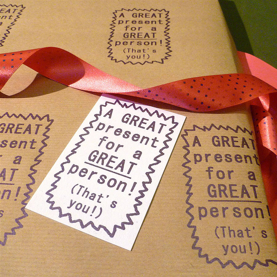handmade great person! gift wrap by indigoelephant