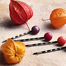 Four Seasons Set Of Glass Hair Pins