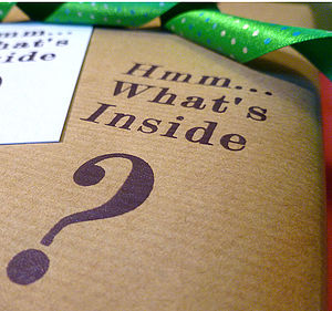 Hmm…What's Inside? Handmade Wrapping Paper - wedding cards & wrap