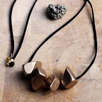 'Gold Dipped' Eco Friendly Wood Necklace