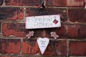 Handmade 'Grandma's Kitchen' Sign - hanging decorations
