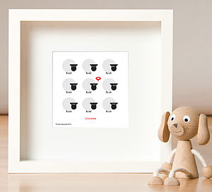 Love Ewe Sheep Print - posters & prints