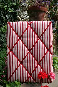 Handmade Stripe Memo Board - noticeboards