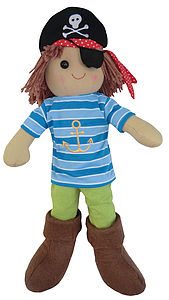 Pirate Rag Doll - soft toys & dolls