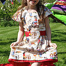 Cowgirl Print Queen Of Hearts Party Dress