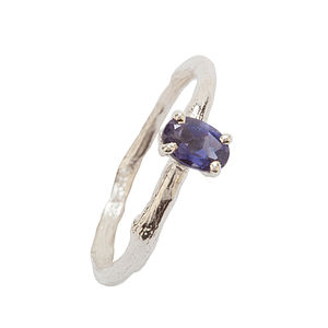 Silver And Iolite Ring - women's jewellery