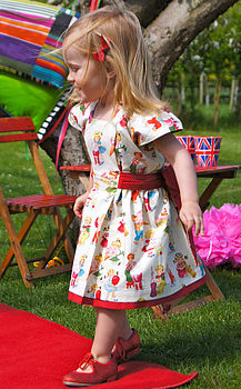 Sweets Print Queen Of Hearts Party Dress