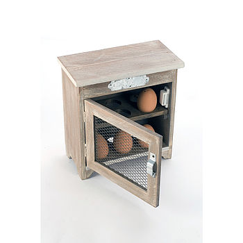 Wooden Egg Storage Box