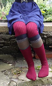 Handmade Knitted Knee Length Socks - women's fashion