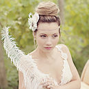 Delphine Lace And Jewel Handmade Flower Headpiece