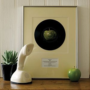 Your Special Song Framed: Original Vinyl Record - special work anniversary gifts