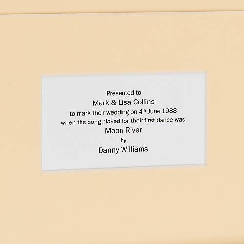 Framed First Dance Wedding Song: Original Vinyl Record By