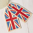 White Union Jack Wrapping Paper Set