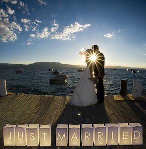 'Just Married' Wedding Paper Lanterns - lights & lanterns