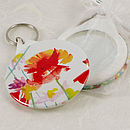 Poppies mirror keyring