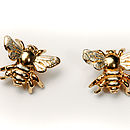 Bee Stud Earrings 9ct Plus Rhodium Wings In Exchange