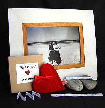 Personalised Message Wool Love Heart