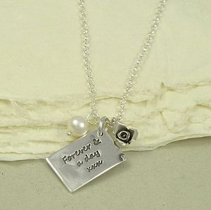 Personalised Love Letter Charm Necklace