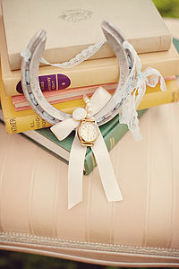 Eloise Lucky Wedding Horseshoe With Vintage Watch Face