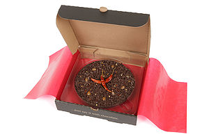 Warm Chilli Chocolate Pizza - gluten free food gifts