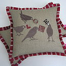 Vaudeville Love Bird Cushion