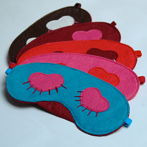 Embroidered Eyelash Sleep Mask - bedroom
