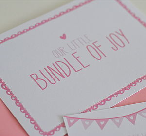 Bunting Baby Announcement Postcards