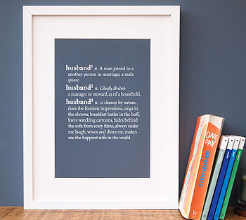 Personalised Partner Dictionary Print