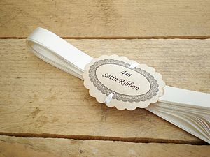 Ivory Satin Ribbon 10mm - finishing touches