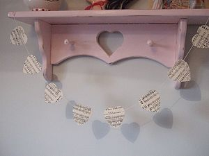 Vintage Sheet Music Bunting - room decorations