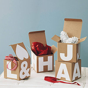 Monogramed Gift Box - gift bags & boxes
