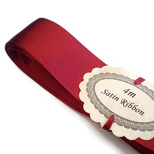 Double Satin Ribbon 25mm - ribbons