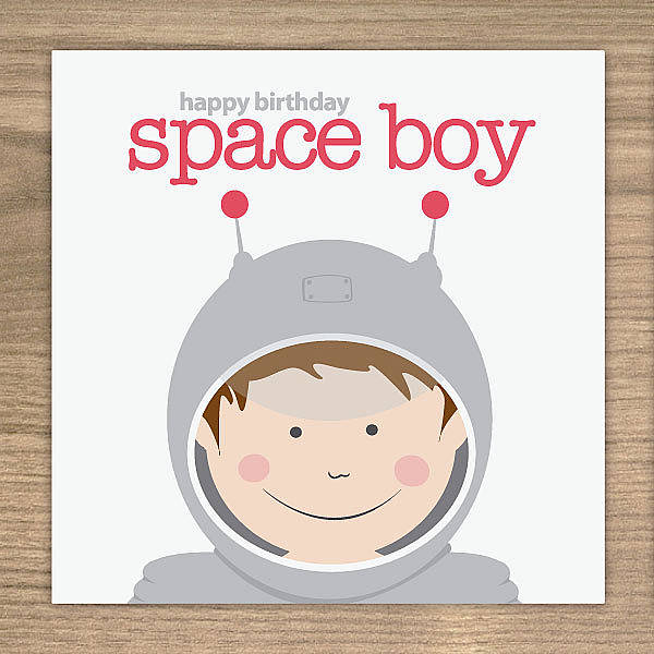 Space Boy Astronaut Birthday Card