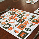 French Cuisine Typographic Placemat
