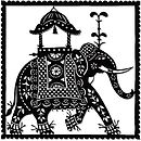 Indian Elephant Greetings Card