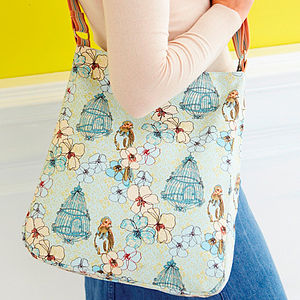 Songbird Canvas Messenger Bag - bags & purses