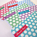 Spotty Thank You Cards Set Of 10