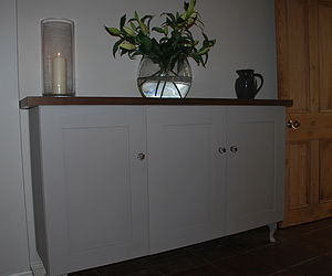Painted Cabinet With Walnut Or Oak - kitchen