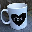 Chalk 'Love Heart' Mug