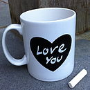Chalk 'Love Heart' Mug