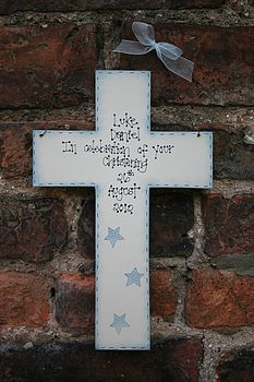 Handmade Christening Cross