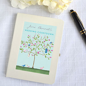 Personalised Wedding Countdown Notebook - engagement gifts