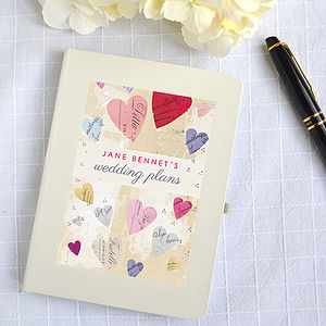 Personalised Wedding Engagement Notebook - albums & keepsakes