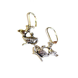 Bird In Nest Earrings