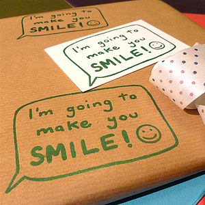 Handmade 'This'll Make You Smile!' Wrap Set - wrapping paper