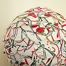 Dragonfly Red Paper Lampshade